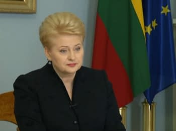 Grybauskaite: in the east of Ukraine now is a struggle for peace in Europe