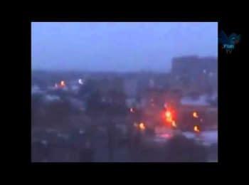In the region of Donetsk airport began battle, 04.01.2015