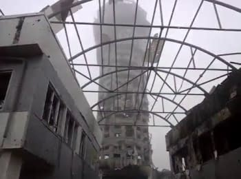 Donetsk airport: Control tower, rotation of the ATO forces