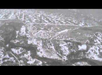 Terrorists' drone explores Gorlovka suburbs
