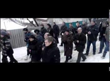 Прощание с Героем Украины Любомиром Подфедько, который погиб в Донецком аэропорту