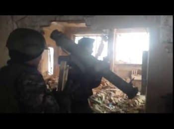Terrorists storm the Donetsk airport, January 2015