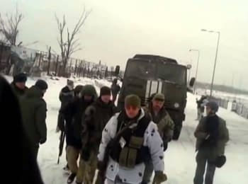 """Rotation of """"cyborgs"""" at the Donetsk airport under the control of DPR militants, 12.01.2015"""