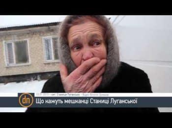 What is spoken in the Stanitsa Luganskaya