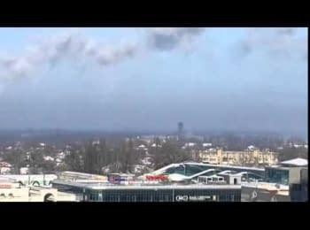 The shelling of the Donetsk airport, 13.01.2015