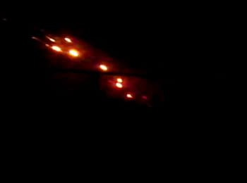 Terrorists firing from MLRS from a residential area. Donetsk, Kirovskiy region, 12.01.15