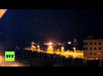 Intensive shelling of the Donetsk airport, 13.01.15