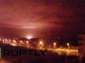 Donetsk Airport shelling continues, 14.01.15