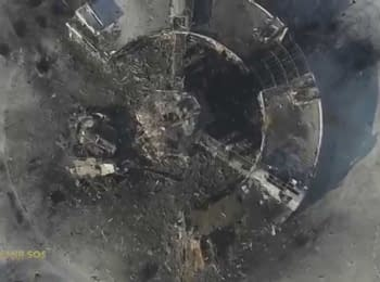 """Aerial reconnaissance """"ARMY SOS"""", Donetsk airport, 15.01.15"""