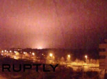 The shelling of the Donetsk airport, 16.01.15