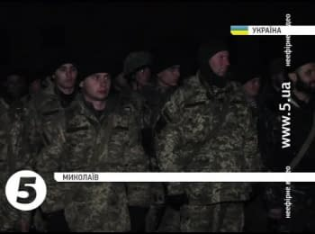 90 marines returned from the frontline to Nikolaev