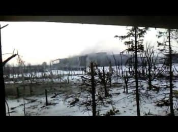 Donetsk airport, Armed Forces of Ukraine fighting with militants
