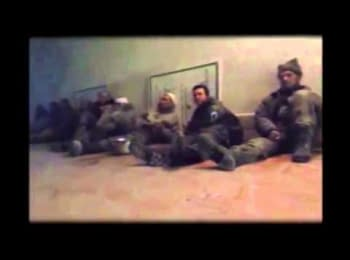 "Interrogation of the captive ""cyborgs"" by terrorists, 22.01.15"