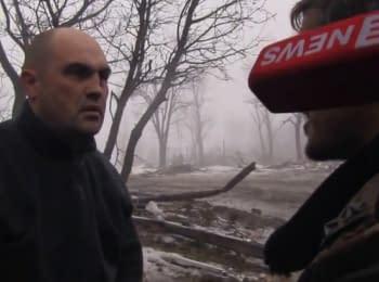 Militants capture and interrogate Ukrainian soldiers, 25.01.2015 (18+)