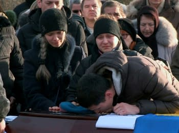 Farewell for a soldier of the 95th brigade Anatoly Stratovych in Zhytomyr