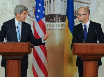 Briefing of the Prime Minister of Ukraine with US Secretary of State John Kerry