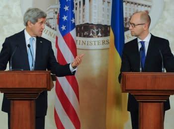 Брифинг Премьер-министра Украины с Госсекретарем США Джоном Керри