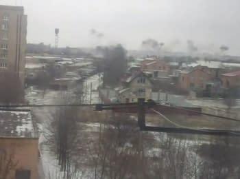 Террористы обстреляли Краматорск, 10.02.15