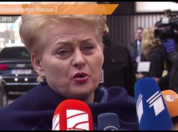 """Minsk-2 does not solve the problem of a border"" - Grybauskaite"