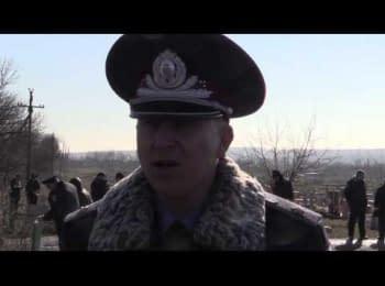 Похорон начальника міліції Дебальцеве Євгена Юханова