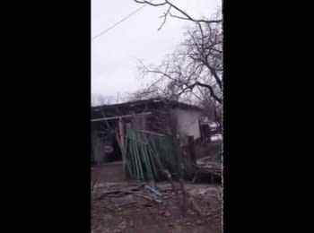 Terrorists rejoice to the destructions in Debaltseve (18+, obscene language)