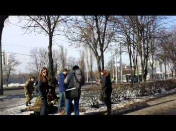 Харьков, момент взрыва, 22.02.15