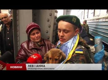 About a 100 of border guards returned from the ATO zone to Lviv
