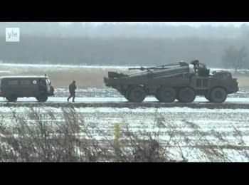 Russian convoy of military equipment near the border with Ukraine, Novoshakhtinsk, 23.02.2015