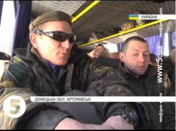 Soldiers of the 128th brigade about Debaltseve breakout