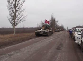 Виконання Мінських домовленостей: Відведення українських 100мм гармат