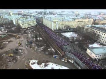 Колона траурного маршу пам'яті Бориса Нємцова в Москві