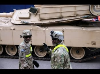 About 400 armored vehicles from the United States arrived to Latvia