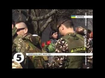 """Farewell to a soldier of """"Donbass"""" battalion, who was killed in a battle for Shyrokyne"""