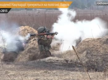 Cadets of the National Guards Academy held firing at the military range