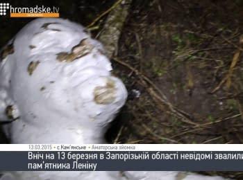 В Запорізькій області за ніч звалили чотири пам'ятники Леніну