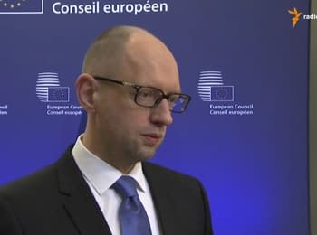 Yatsenyuk in Brussels: sanctions against Russia should be extended and strengthened