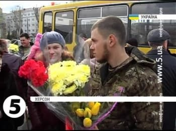 Soldiers of the 28th Brigade returned to Kherson from Mariupol