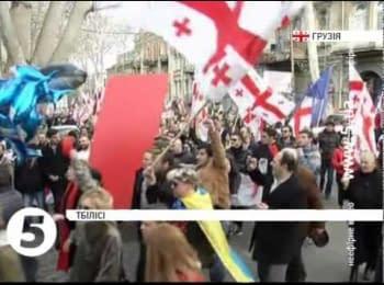 Багатотисячний антиурядовий мітинг в Тбілісі