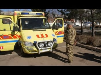 Two families of migrant workers in Denmark bought an ambulance car for the 95th brigade