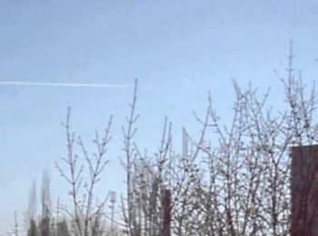Літаки в небі на схід від Луганська, 25.03.2015