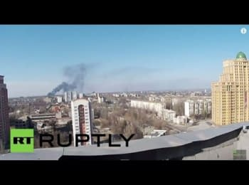 Donetsk. View of the airport
