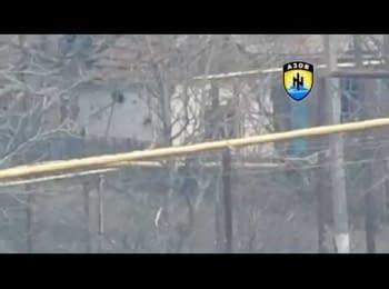 """Azov"" regiment destroyed terrorists' tank"