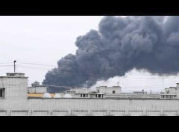 Пожежа на Механічному заводі в Новомосковську, 27.03.2015