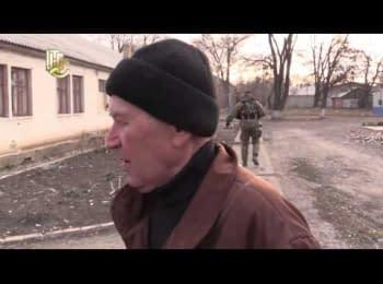 """29-й блокпост и с. Новотошкивка после обстрелов """"Градами"""" сепаратистов"""