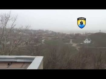 Terrorists fired the positions of the Ukrainian military in the Shirokine village, 30.03.15