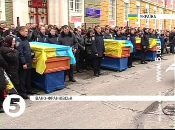 The reburial of ATO soldiers, which were killed near Ilovaisk