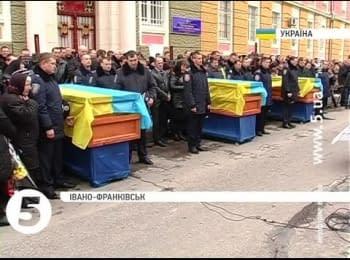 Перепоховання бійців АТО, які загинули під Іловайськом