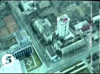 Недоторкана Донбас-Арена та зруйновані Піски. Відео з безпілотника