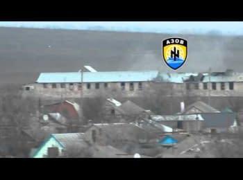 "Artillerymen of ""Azov"" regiment destroy militants' firing point near Shyrokyne"