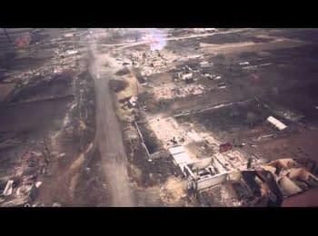 Аерозйомка наслідків пожеж в Хакасії, 12.04.2015